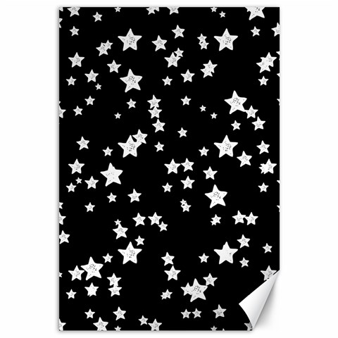 Black And White Starry Pattern Canvas 12  x 18