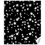 Black And White Starry Pattern Canvas 20  x 24   24 x20 Canvas - 1