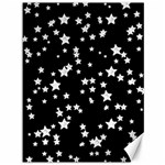 Black And White Starry Pattern Canvas 36  x 48   48 x36 Canvas - 1