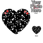 Black And White Starry Pattern Playing Cards 54 (Heart)  Front - HeartK