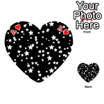 Black And White Starry Pattern Playing Cards 54 (Heart)  Front - HeartA