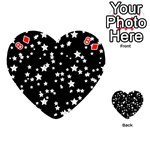 Black And White Starry Pattern Playing Cards 54 (Heart)  Front - Diamond8