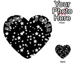 Black And White Starry Pattern Playing Cards 54 (Heart)  Front - Joker1