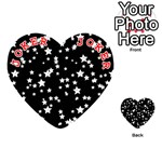 Black And White Starry Pattern Playing Cards 54 (Heart)  Front - Joker2