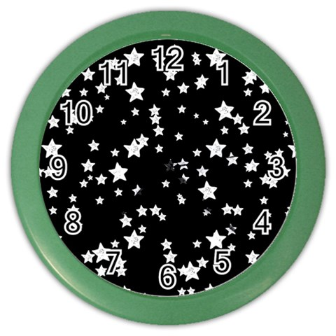 Black And White Starry Pattern Color Wall Clocks