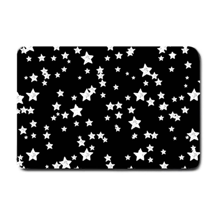Black And White Starry Pattern Small Doormat