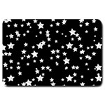 Black And White Starry Pattern Large Doormat  30 x20 Door Mat - 1