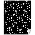 Black And White Starry Pattern Canvas 11  x 14   14 x11 Canvas - 1