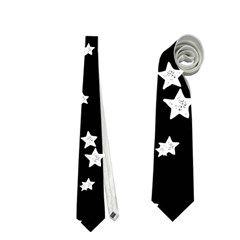 Black And White Starry Pattern Neckties (two Side)