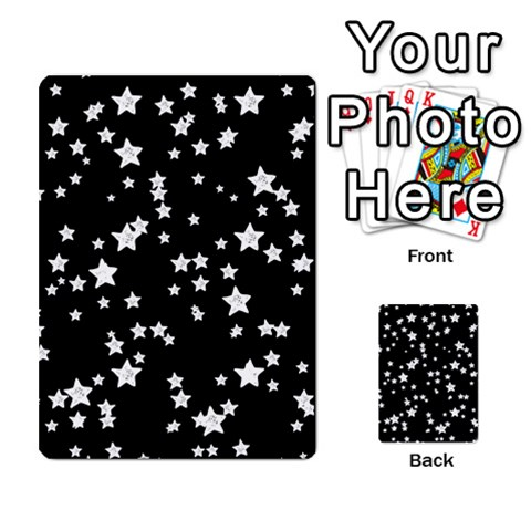 Black And White Starry Pattern Multi-purpose Cards (Rectangle)