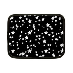 Black And White Starry Pattern Netbook Case (small)