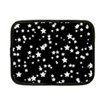 Black And White Starry Pattern Netbook Case (Small)  Front