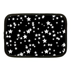 Black And White Starry Pattern Netbook Case (medium)