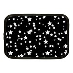 Black And White Starry Pattern Netbook Case (Medium)  Front