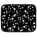 Black And White Starry Pattern Netbook Case (Large) Front
