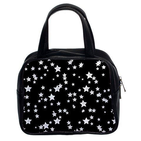 Black And White Starry Pattern Classic Handbags (2 Sides)