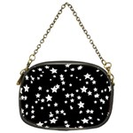 Black And White Starry Pattern Chain Purses (One Side)  Front