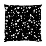 Black And White Starry Pattern Standard Cushion Case (Two Sides) Back
