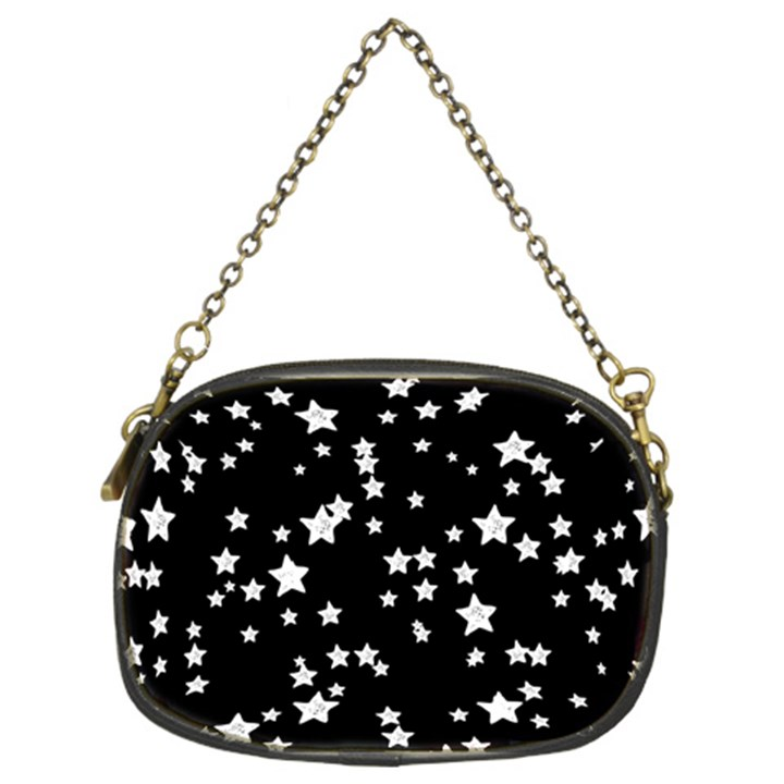 Black And White Starry Pattern Chain Purses (Two Sides)