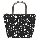 Black And White Starry Pattern Bucket Bags Front