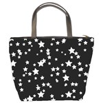 Black And White Starry Pattern Bucket Bags Back