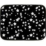 Black And White Starry Pattern Fleece Blanket (Mini) 35 x27 Blanket