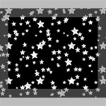 Black And White Starry Pattern Canvas 10  x 8  10  x 8  x 0.875  Stretched Canvas