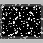 Black And White Starry Pattern Canvas 14  x 11  14  x 11  x 0.875  Stretched Canvas