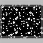 Black And White Starry Pattern Canvas 16  x 12  16  x 12  x 0.875  Stretched Canvas