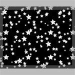 Black And White Starry Pattern Canvas 20  x 16  20  x 16  x 0.875  Stretched Canvas