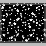 Black And White Starry Pattern Canvas 24  x 20  24  x 20  x 0.875  Stretched Canvas