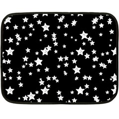Black And White Starry Pattern Double Sided Fleece Blanket (Mini)