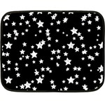 Black And White Starry Pattern Double Sided Fleece Blanket (Mini)  35 x27 Blanket Front