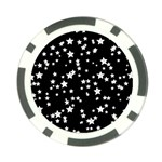 Black And White Starry Pattern Poker Chip Card Guards (10 pack)  Front