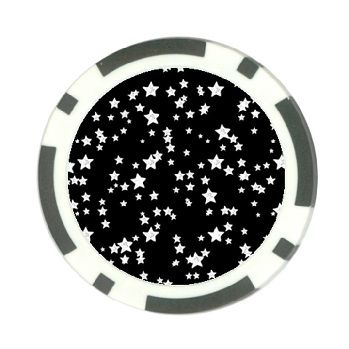 Black And White Starry Pattern Poker Chip Card Guards (10 pack)
