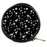 Black And White Starry Pattern Mini Makeup Bags Front