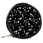 Black And White Starry Pattern Mini Makeup Bags Back