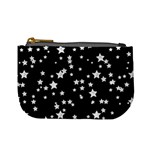 Black And White Starry Pattern Mini Coin Purses Front