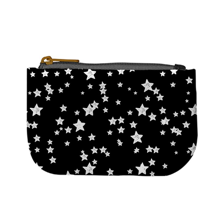 Black And White Starry Pattern Mini Coin Purses