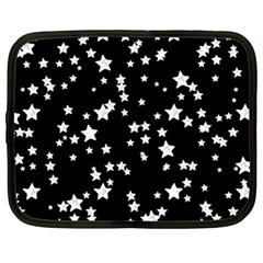 Black And White Starry Pattern Netbook Case (xl)