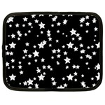 Black And White Starry Pattern Netbook Case (XXL)  Front