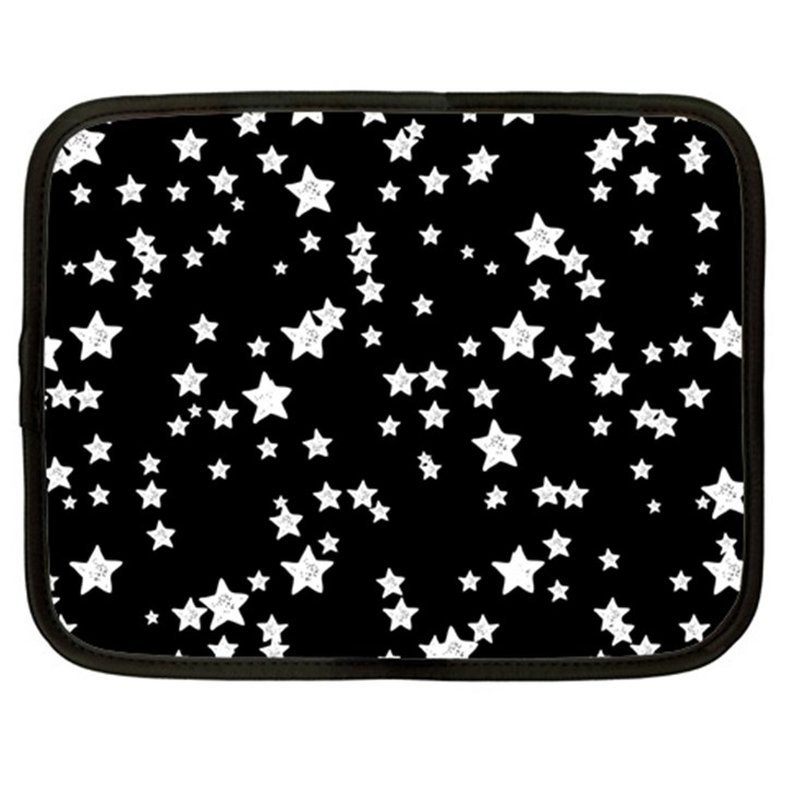 Black And White Starry Pattern Netbook Case (XXL)