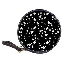 Black And White Starry Pattern Classic 20 Cd Wallets