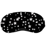 Black And White Starry Pattern Sleeping Masks Front