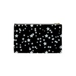 Black And White Starry Pattern Cosmetic Bag (Small)  Back