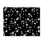 Black And White Starry Pattern Cosmetic Bag (XL) Front