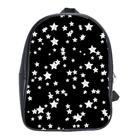 Black And White Starry Pattern School Bags(Large)