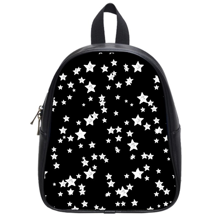 Black And White Starry Pattern School Bags (Small)