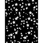 Black And White Starry Pattern Large Memo Pads 4.125 x5.5  Memopad