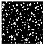 Black And White Starry Pattern Small Memo Pads 3.75 x3.75  Memopad